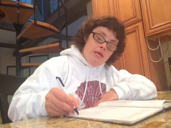 Maria writing