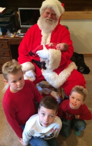 santa nicholas with kids