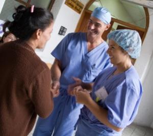 Operation Walk - dr and angela - translating photo