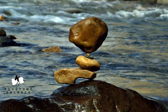 Rock Balance with little rock - Tim Anderson