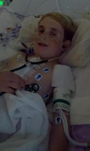 Dalton listening to his new heart for first time