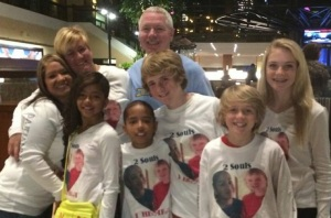 Dalton's family with donor's family