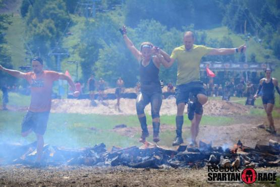 Daynelle and Chris - Spartan finish line