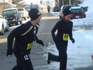 Gina Lynn with Parker running 5k