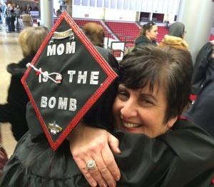Lauren - grad photo with mom