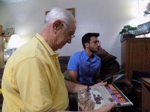Sam Brooks with grandfather