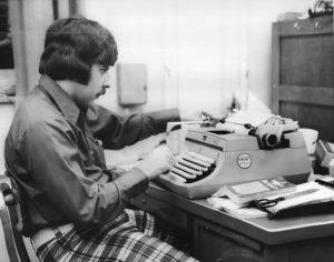 Ed Cope - at typewriter